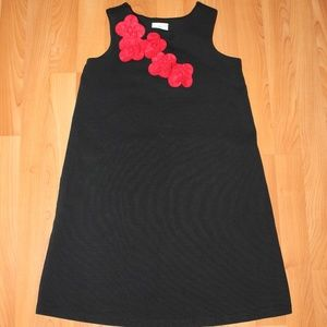 Hanna Anderson Black Red Formal Dress Girls Sz 8